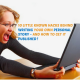 Excited woman laptop